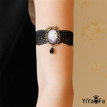 YiYaoFa DIY Gothic Jewelry Lace Arm Accessories Women Arm Bangles Handmade Summer Girl Party Jewelry AT-71