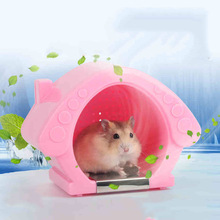 Small Animal Plastic Hamster Room Rabbit Guinea pig Cag Accessories Cool House