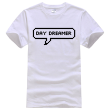 Daydreamer Pixel Speech Bubble Tee Shirt Unisex fashion women men short sleeve funny shirt 6 size(China)