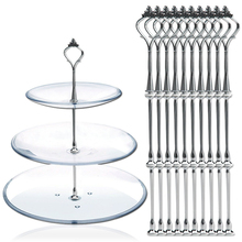 10pcs 3 Tier Cake Plate Stand Fittings Crown Fitting Metal Wedding Party
