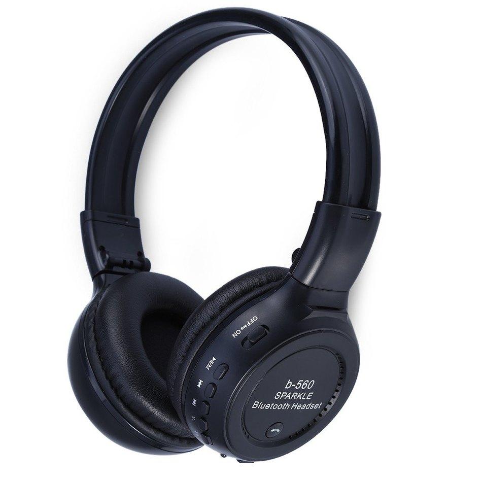Best Gift Original Universal Handsfree LED Wireless Bluetooth Headphone with Mic,Heavy Bass Stereo FM Radio MP3 Player TF Card<br><br>Aliexpress