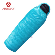 AEGISMAX Outdoor Camping 95% White Goose Down Sleeping Bag Ultra Light Envelope Splicing down Sleeping Bags(China)
