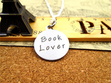 "Fashion stainless steel necklace ""book lover"" Charms Pendant necklace Jewelry Gift more style for choosing"