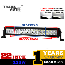 CANADA WAREHOUSE TRANSAUTO 22 INCH 120W LED LIGHT BAR LED WORK LIGHTS FIT 12V 24V OFFRODA CAR TRUCK WAGON ATV SUV PICKUP 4WD 4x4
