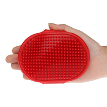 HAICAR   Small Puppy Dog Rubber Soft Pet Clean Pet Brush Pet Cleaning Oval Bath Brush Massage Brush Comb With Adjustable Strap