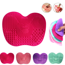 Silicone Makeup Brush Cleaning Mat Washing Tools Hand Tool Large Pad Sucker Scrubber Board Washing Cosmetic Brush Cleaner P15