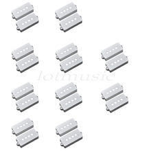20Pcs White Pickup Cover for Fender Precision P Bass Guitar Pickup Replacement