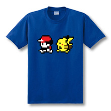 New Cartoon Pokemon Ash And Pikachu T Shirts Men Short Sleeve Anime Mens Clothing Fake Top Tees