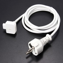 EU PLUG Power Extension Cable Cord for Apple MacBook Pro Air AC Wall Charger Adapter New