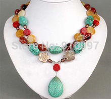 Free shipping  shipping HH##beautiful jewelry Exquisite Netsuke  coral  necklace AA