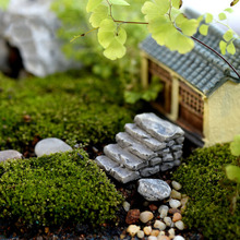 2 styles Miniature Resin Bridge Stair Micro world bonsai garden small ornament Landscape decoration Resin Craft