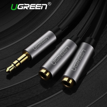 Ugreen Audio Cable Jack 3.5mm Male to 2 Female Earphone Extension Cable 3.5mm Headphone Splitter Adapter for iphone Laptop