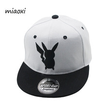 miaoxi New Fashion Arrive Child Baseball Cap Summer Sun Boy's Caps Animal Pikachu Adjustable Casual Hat Child Snapback