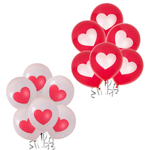 Amawill 10pcs Love Heart Latex Balloons Red White Pearl Globos for Valentines Day Decor Party Supplies Wedding Decorations 55D(China)