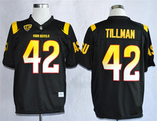 Nike Arizona State Sun Devis (ASU) Pat Tillman 42 1997 Rose Bowl College Ice Hockey Jerseys - Size M,L,XL,2XL,3XL(China)