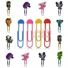 1pcs cartoon Series pet shop Bookmark metal Memo Clip Stationery clip School Office Supplies book holder Promotional Gifts(China)