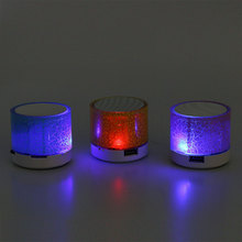 kebidumei Portable Mini LED Bluetooth Speakers Wireless Smart Hands Free USB Speaker Support TF Card For Smartphone PC