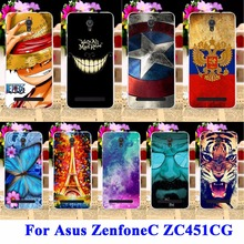 Captain America Batman Soft TPU & Hard PC Phone Cases For Asus ZenfoneC Shield ZC451CG Z007 Zenfone C Shell Covers Skin Housing