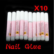 New 10pcs Mini Professional Beauty Nail False Art Decorate Tips Acrylic Glue Nail Accessories 2g -15(China)