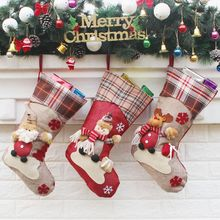 Best christmas decorations for home Socks Gift tree noel navidad 2017 noel decoration ornaments Snowman Reindeer kerst natale(China)
