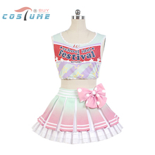 LoveLive! Love Live Kotori Minami Cheerleaders Uniform Vest Skirt Anime Halloween Cosplay Costumes For Women Custom Made