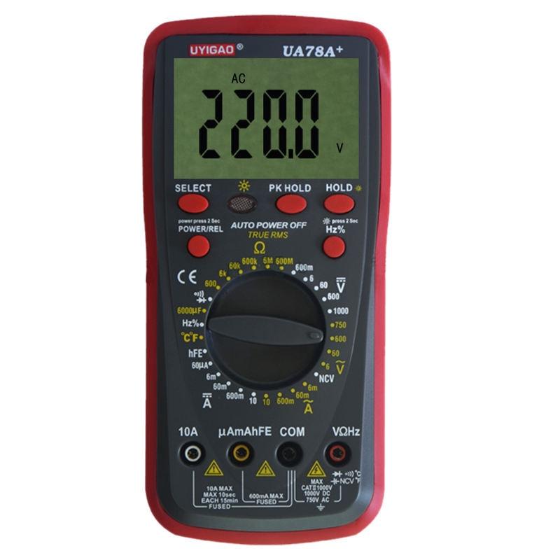 UA78A+ Plastic Shell Ohmmeter AC DC Testing Digital Multimeter<br>