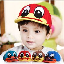2017 New Cute Duck Design Baby Hats Bebes Boy Girl Caps  6-36 month Old Newborn Photography Props