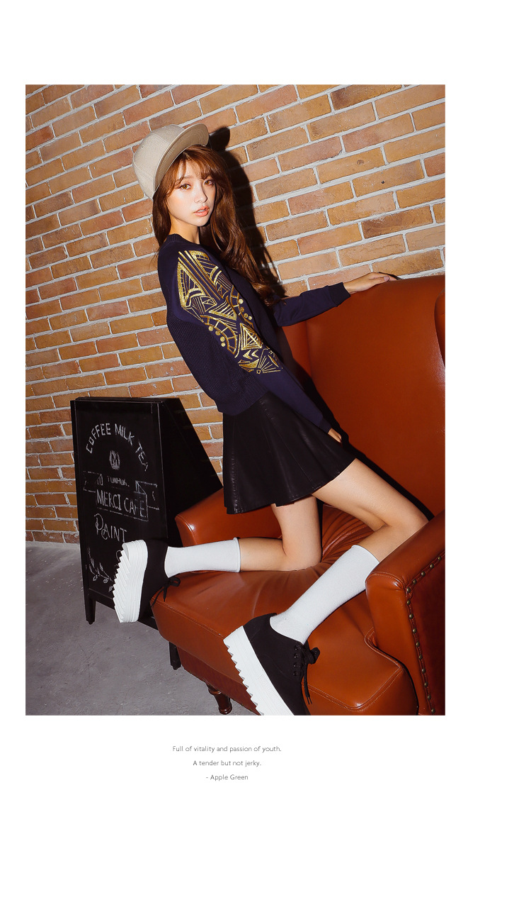 Women leather skirt PU Leather patchwork pleated slim sexy empire A-line high quality skirts short render factory sell 14
