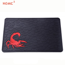 Car Styling Pad Phone PVC Scorpion Anti-Slip Non-slip Mat for Lexus Mazda Jaguar Mitsubishi Pontiac Renault Subaru Suzuki Holden(China)