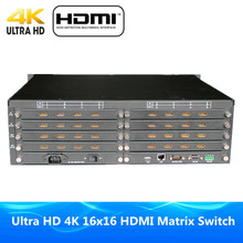 DHL Free Shipping ProAV Premium Quality 16x16 HDMI Matrix Switcher 16 Input 16 Output HDMI Matrix Ultra 4Kx2K Full HD 1080P 3D