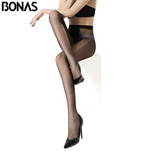 Buy BONAS 2018 New Sexy Breathable Tights 5D Tear-resistant Women Stretchy Pantyhose Ultra-thin Nylon Tights Female Black Stockings