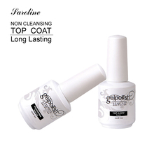 Saroline Base Coat Top Coat Gel UV Nails 15ml Gelpolish Nail Soak Off Gel Lacquer Varnishes UV Gel Nail Primer in Nail Art