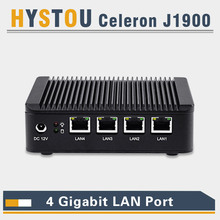 industrial mini pc quad lan pc  j1900 mini pc thin client intel nuc 4 lan port router computer pfsense vpn server nano firewall