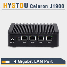 industrial mini pc quad lan pc j1900 mini pc thin client intel nuc 4 lan port router computer pfsense vpn server nano firewall(China)