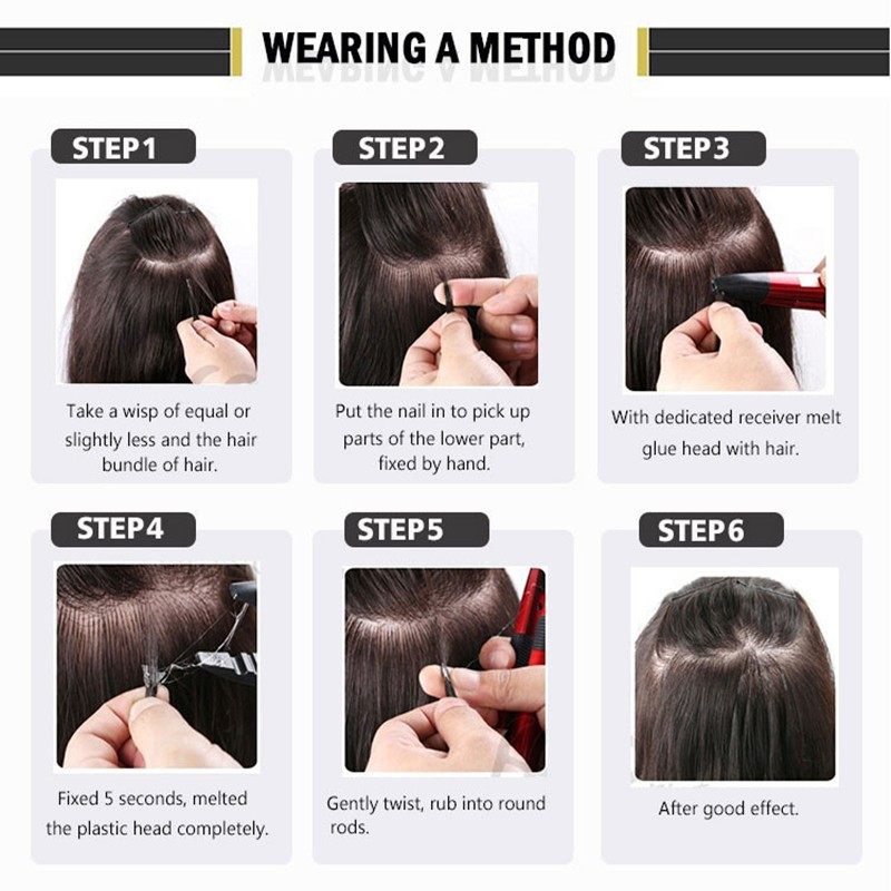 how to apply(u tip hair)