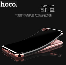HOCO Brand Ultra-Slim Shinny TPU Soft Back Phone Case For iPhone 7 / 7 Plus, 3 Luxury color for choose