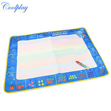 Coolplay CP1380nc 80X60cm Big Size Funny Drawing Toys Colorful Baby Water Doodle Mat with 1 Magic Pen