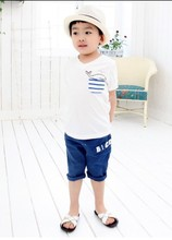 Fashion Popular children's T-shirt delicate dolphin pattern cotton short-sleeved T-shirt ,Outwear Baby T-shirt for summer(China)