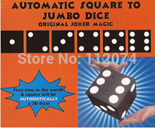 Automatic Square To Jumbo Dice Magic Tricks For Magician Spot Change Stage Illusion Gimmick Props Comedy Party