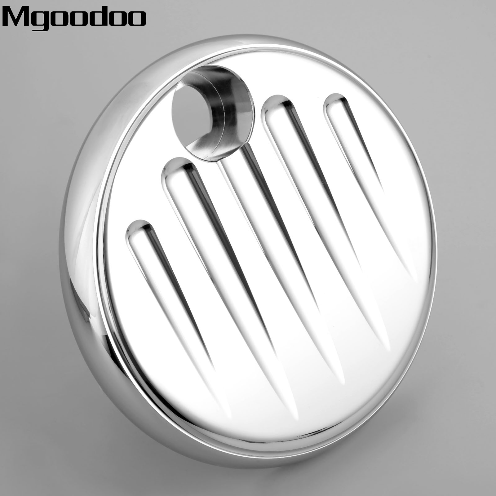New Chrome Aluminum Motorcycle Deep Cut Contrast Gas Fuel Tank Console Door Cover For Harley Touring 2008-2016 FLHX FLTR FLHT<br>