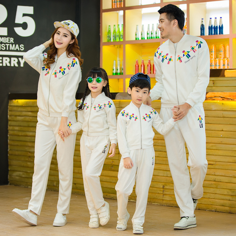 Family Clothing Active Clothing Sets for Mother and Daughter Father Son Matching Clothing Family Set Clothes, Black/White, HY61<br>