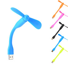 For Laptop Desktop Computer Portable Flexible Fan Colorful USB Mini Cooling Fan Cooler(China)