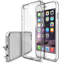 Dust plug Crystal Bumper Premium Clear Tpu Case for IPhone 6/6s/6 plus/6s plus Smartphone Back Skin Usb Port Cover Protector