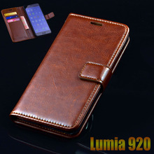 For Microsoft Nokia Lumia 920 Luxury Leather Flip Phone Bags For Lumia 920 N920 Ultra Thin Business Wallet Phone Bags Case Cover