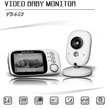 Wireless 3.2 inch 2.4Ghz LCD Electronical Wireless  2 Way Audio Video Baby MonitorTemperature Lullabies Portable Baby Camera