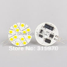 Led G4 Lamp 12LED 5050 SMD 12V White/Warm White Commercial Engineering Indoor Car Housing Camper Boat Spoting Corn Bulb(Hong Kong)
