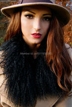 SJ006-01 70CM*8CM Genuine Mongolian Fur Collar Scarf/Top Quality Making Scarve 100% Genuine Fur(China)