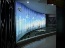 Factory fireproof printed stretch ceiling film Translucent PVC stretch ceiling film ceiling decoration