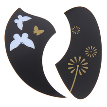 10pcs Ukulele Pickguard 26 Inch PVC Tenor Guitar Scratch Plate Adhesive Butterfly Flora Design Guitar Plates Parts & Accessories(China)