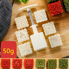 AMW Flower Rabbit Shaped Plastic Moon Cake Mold 50g Square Mooncake Mould Cheap Kitchen Accessories Baking Pastry Tools